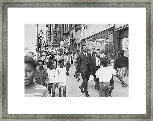 The Pied Piper Of Harlem, Cassius Clay Framed Print