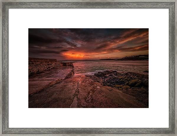 The Pier Sunset Framed Print