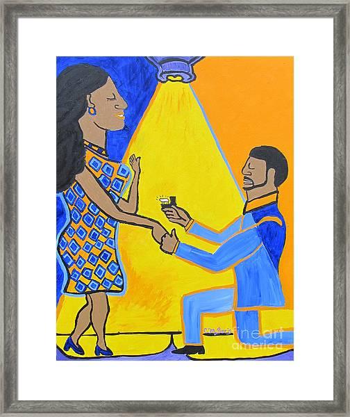 The Proposal Framed Print