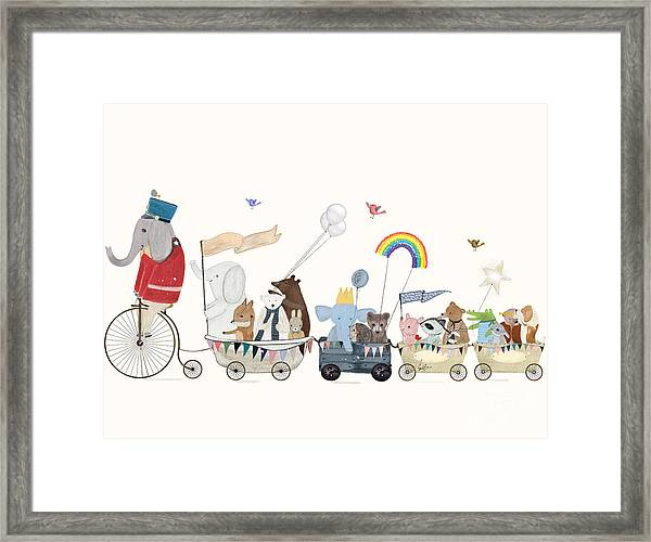 The Rainbow Parade Framed Print by Bri Buckley