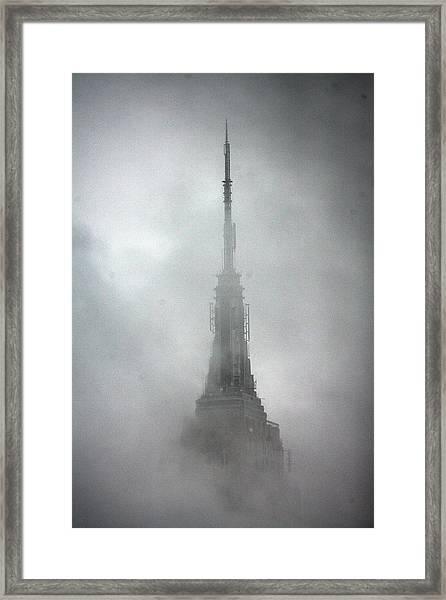 The Rains Recede And The Empire State Framed Print