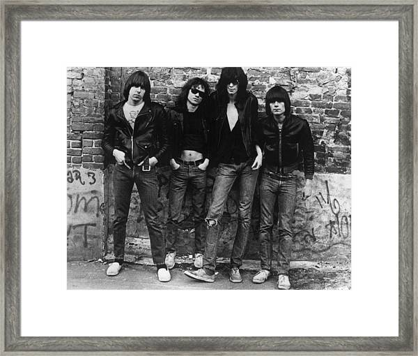 The Ramones Framed Print by Roberta Bayley