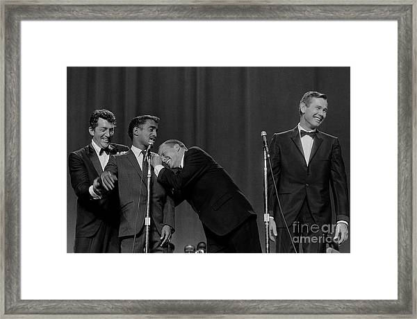 The Rat Pack Perform With Carson Framed Print