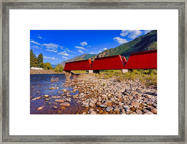 Framed Print featuring the photograph The Red Bridge by Bryan Smith