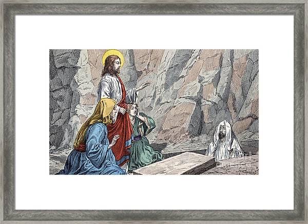 The Resurrection Of Lazarus Framed Print