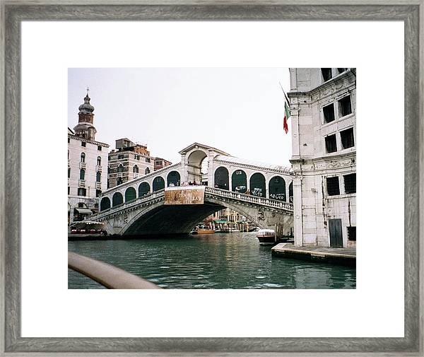 The Rialto Bridge  Framed Print