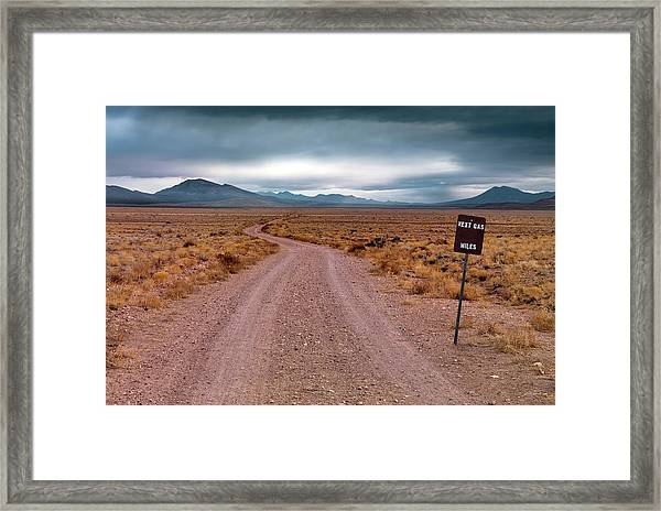 The Right Path To Take. Framed Print by Leland D Howard