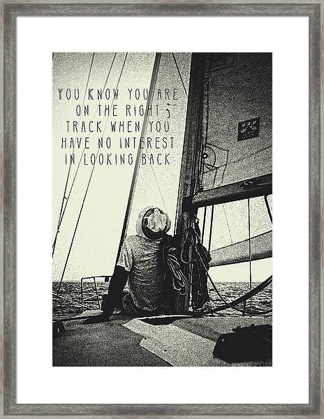 The Right Track Framed Print