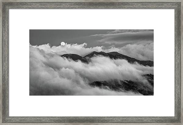 The Rising Of Full Moon Framed Print