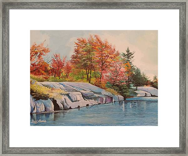 Framed Print featuring the painting The River by Said Marie