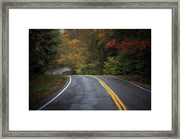 The Road To Friends Lake Framed Print