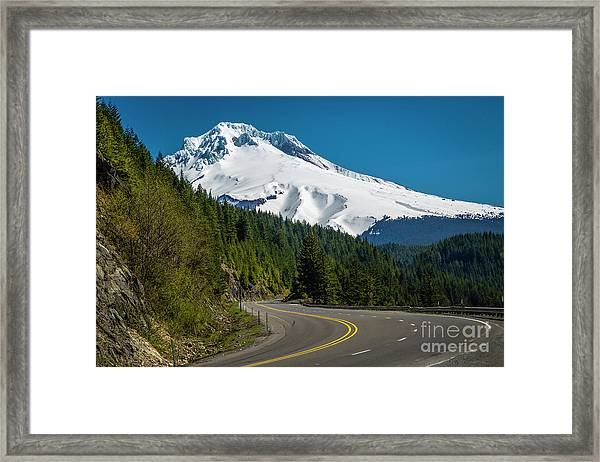 The Road To Mt. Hood Framed Print