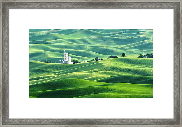 The Rolling Fields Of Palouse Framed Print
