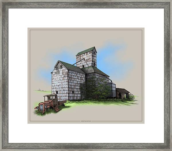 The Ross Elevator Version 5 Framed Print