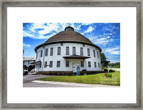 The Round Barn Framed Print