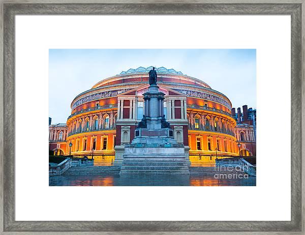 The Royal Albert Hall, Opera Theater Framed Print