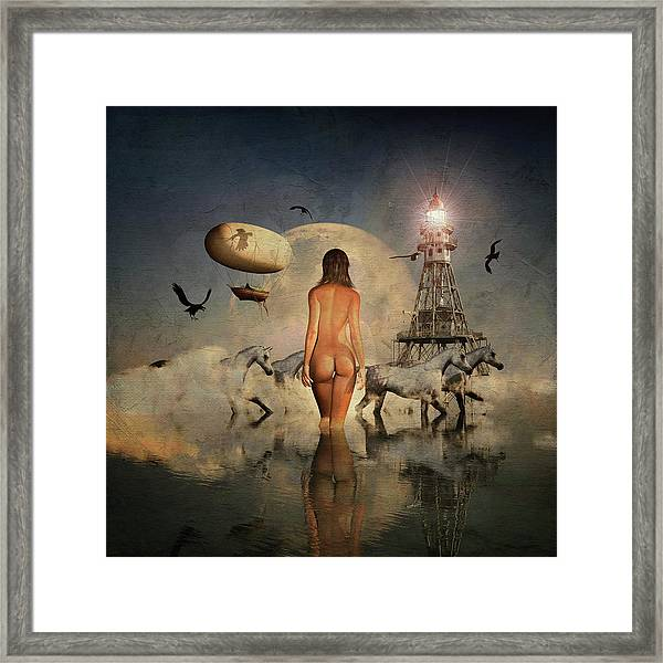 Framed Print featuring the digital art The Run Of The Animals by Jan Keteleer