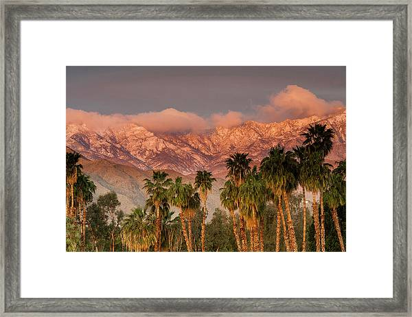 The San Jacinto And Santa Rosa Mountain Framed Print