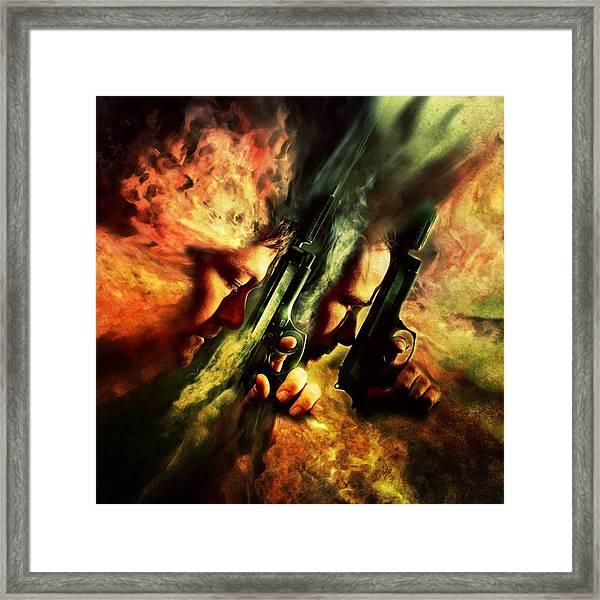 The Sandstorm Saints Framed Print