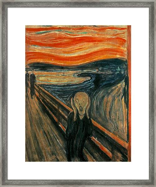 The Scream  Framed Print
