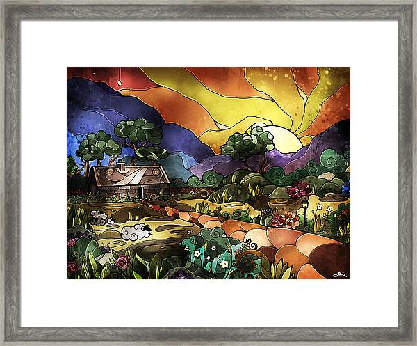 The Shepherd's Cottage Framed Print