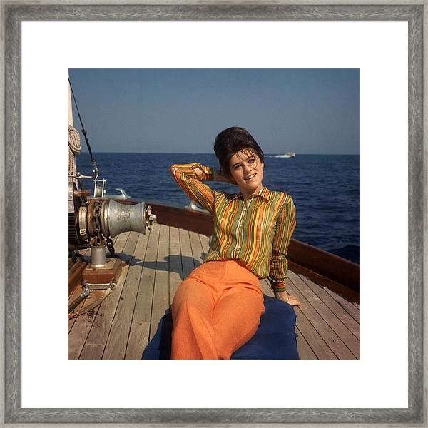The Singer Sheila On Vacation 1967 Framed Print