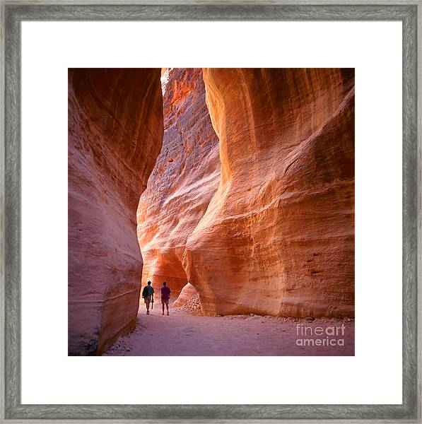 The Siq, The Narrow Slot-canyon That Framed Print