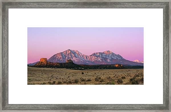 The Spanish Peaks Framed Print