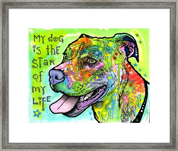The Star Of My Life Framed Print