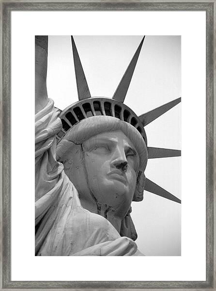 The Statue Of Liberty As Seen From Framed Print