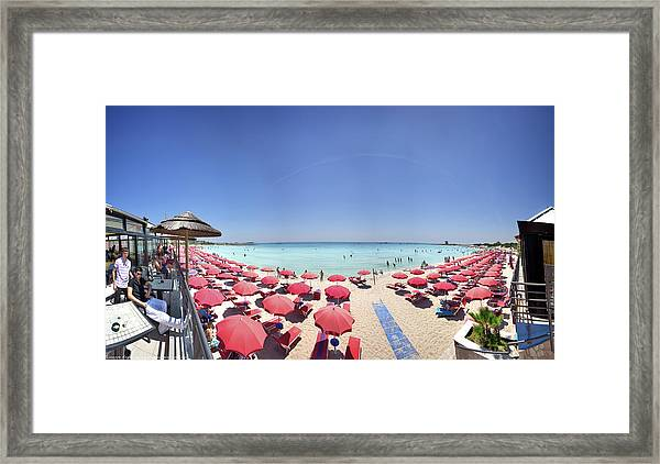 The Summer Is Coming Porto Cesareo - Framed Print