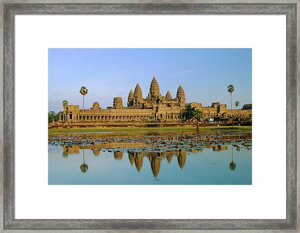 The Temple Of Angkor Wat, Angkor, Siem Framed Print