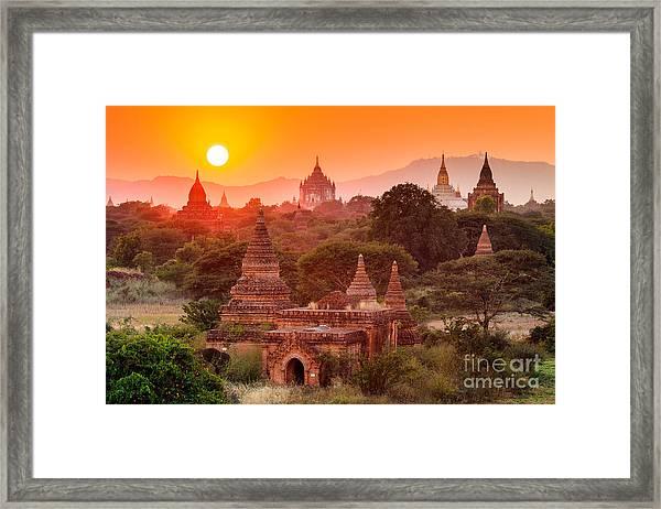 The  Temples Of Baganpagan, Mandalay Framed Print