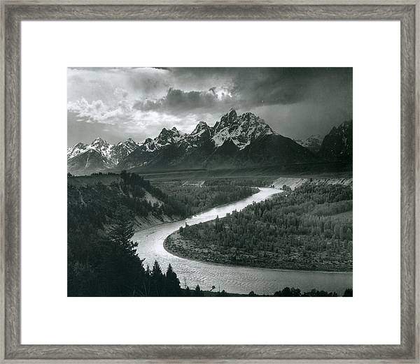 The Tetons - Snake River Framed Print