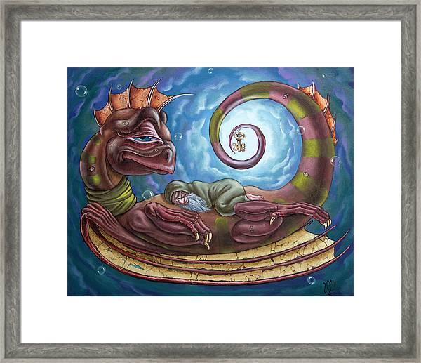The Third Dream Of A Celestial Dragon Framed Print