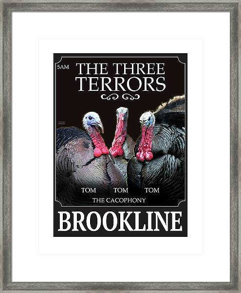The Three Terrors Framed Print