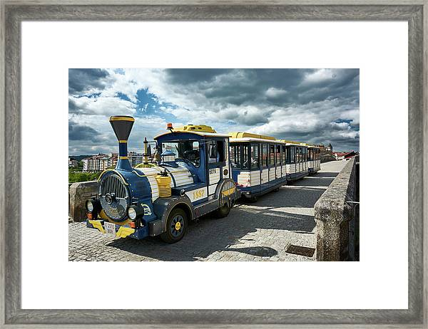 The Touristic Train Of Ourense Framed Print
