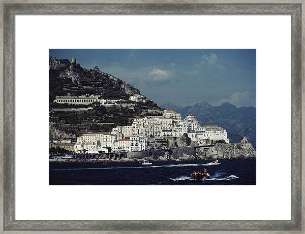 The Town Of Amalfi Framed Print by Slim Aarons