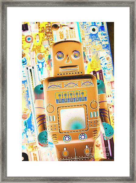 The Transistor Bot Framed Print