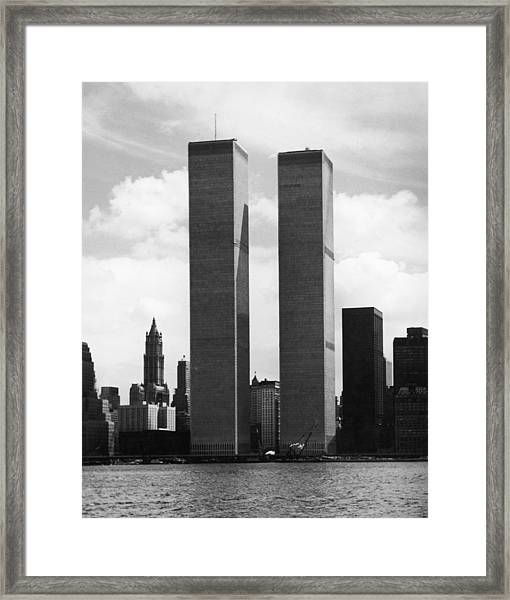 The Twin Towers Framed Print
