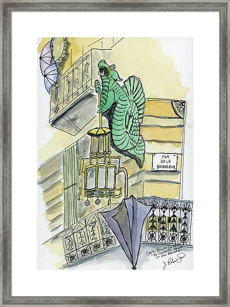 The Umbrella Building Framed Print