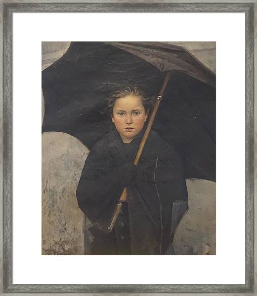 The Umbrella Framed Print by Marie Bashkirtseff