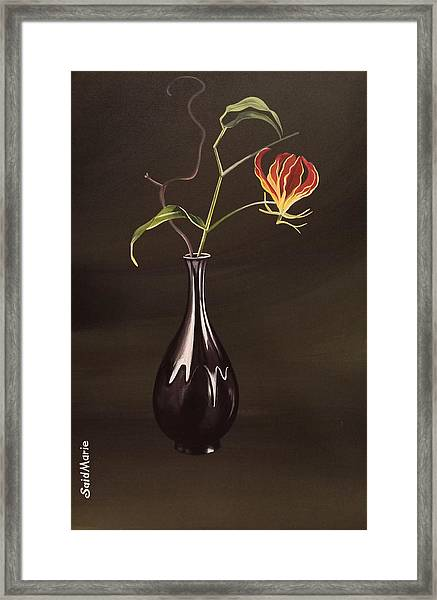 Framed Print featuring the painting The Vase by Said Marie