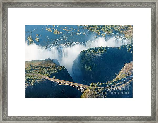 The Victoria Falls Is The Largest Framed Print