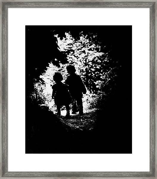 The Walk To Paradise Garden Framed Print