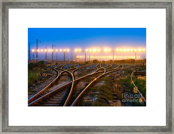 The Way Forward Railway Framed Print