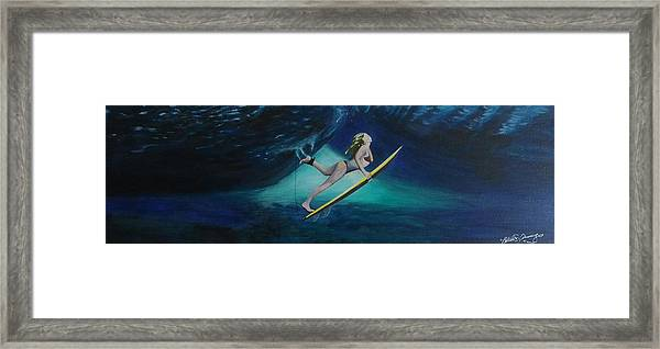 The Wedge - Duck Dive Framed Print