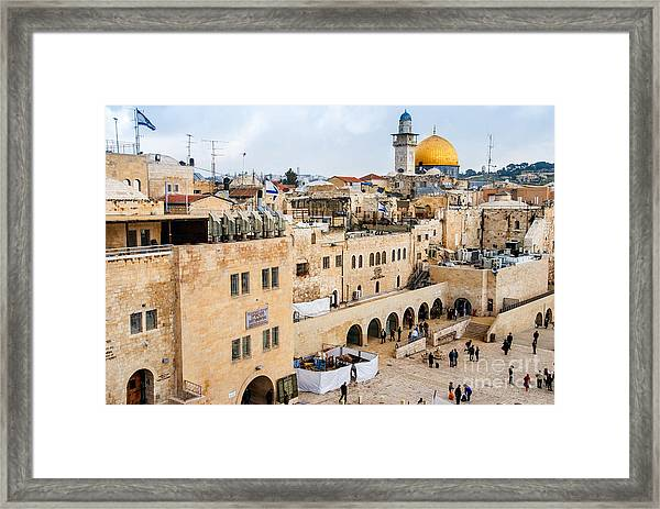 The Western Wall,temple Mount Framed Print