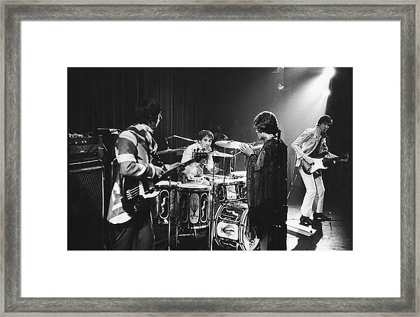 The Who At The Fillmore East Framed Print by Fred W. McDarrah
