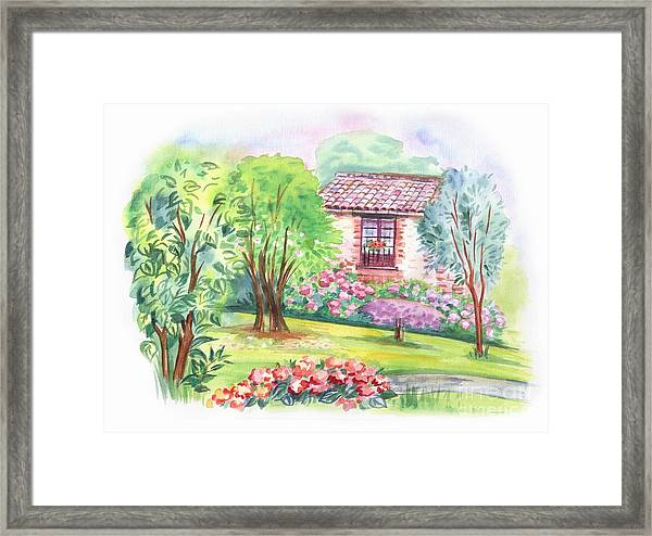 The Window To The Garden. Decorative Framed Print